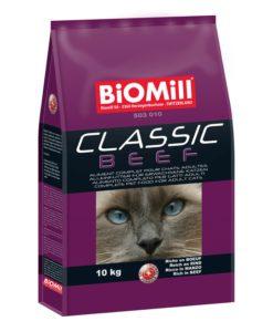 корм биомил для кошек с говядиной