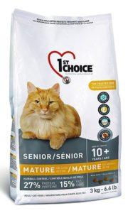 корм для кошек старше 10 лет 1st сhoice