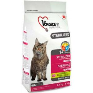 корм для кошек стерилизованных 1st сhoice