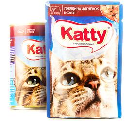 katty влажный корм для кошек