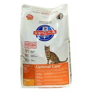 корм для кошек хиллс optimal care
