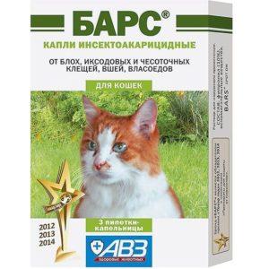 капли для кошек барс
