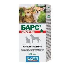 капли барс от ушных клещей для кошек