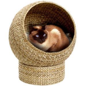 плетенный домик для кошки