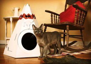 домик для кошки в форме вигвама