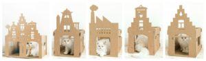 домик из картона для кошки