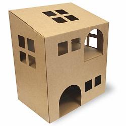 домик из коробки своими руками