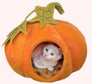 закрытая лежанка для кошек